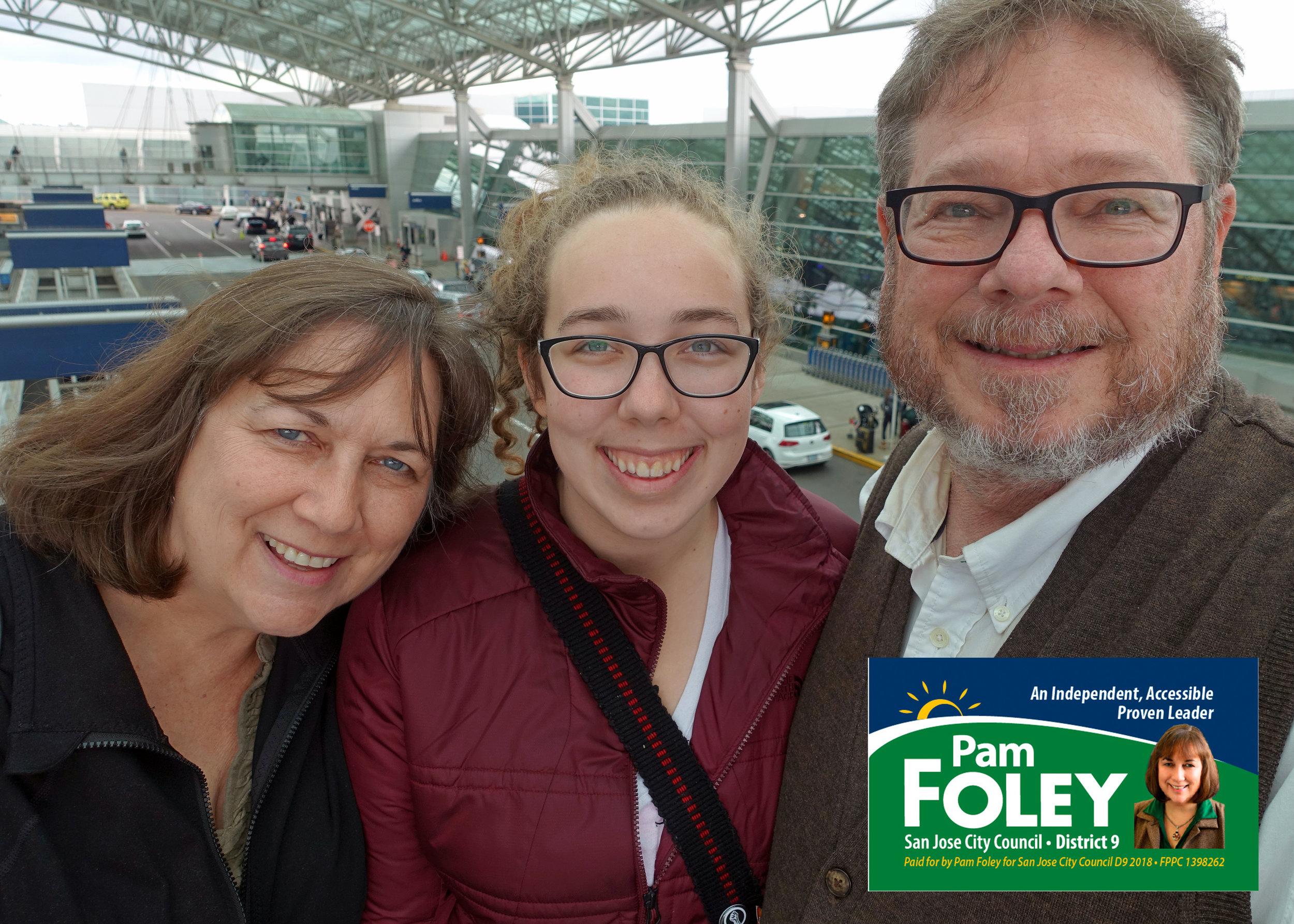 Pam, Katelin (daughter), Mike (husband)