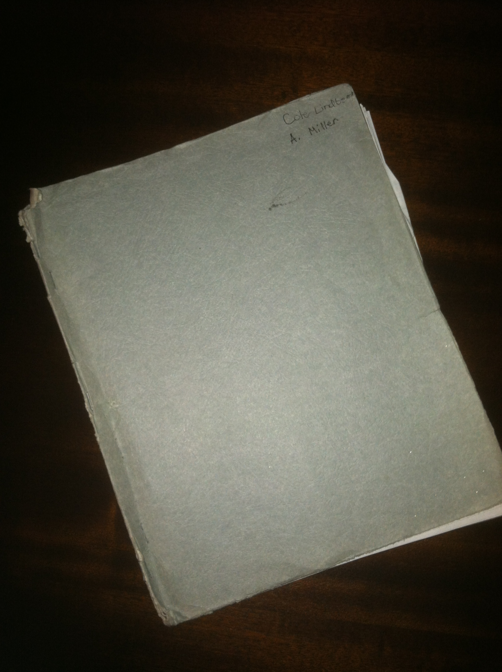 CLICK TO ENLARGE - The outside of Cole's 6th Grade Imagineering folder used from 1997/98 to dream up new amusement park rides.