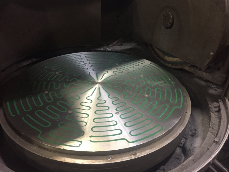 rotary surface grinding plate