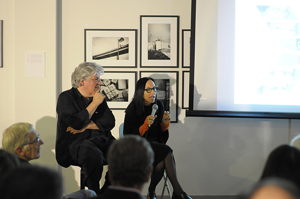 """""""Book Launch: """" L.A. [Ten]: Interviews on Los Angeles Architecture 1970s to 1990s"""" Author in Conversation with Aaron Betsky, Sylvia Lavin.   by Amelia Taylor-Hochberg, In Archinect (February 6, 2014)    link to full article"""