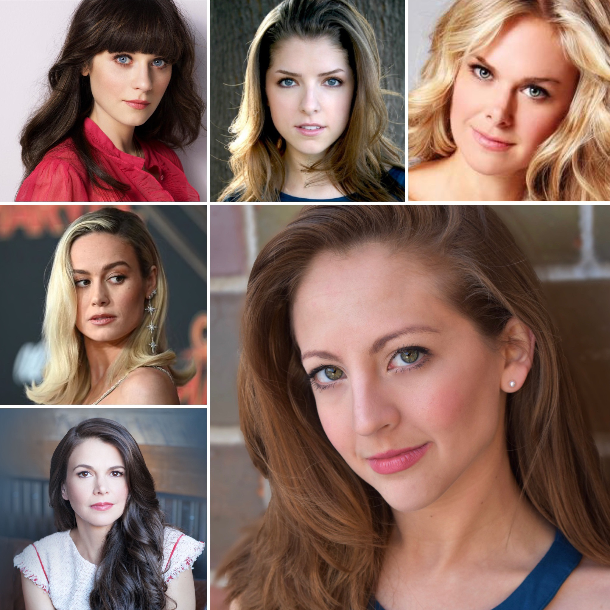 Like Who? - I have been compared to Anna Kendrick, Brie Larson, Laura Bell Bundy, Sutton Foster, and Zooey Deschanel.My frequent casting character types are: Leading Lady, Firebrand, Femme Fatale, maiden, and the Zanni.