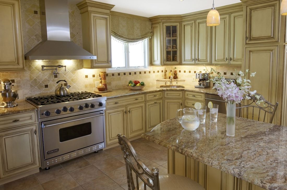 Kitchen with elegant dining table