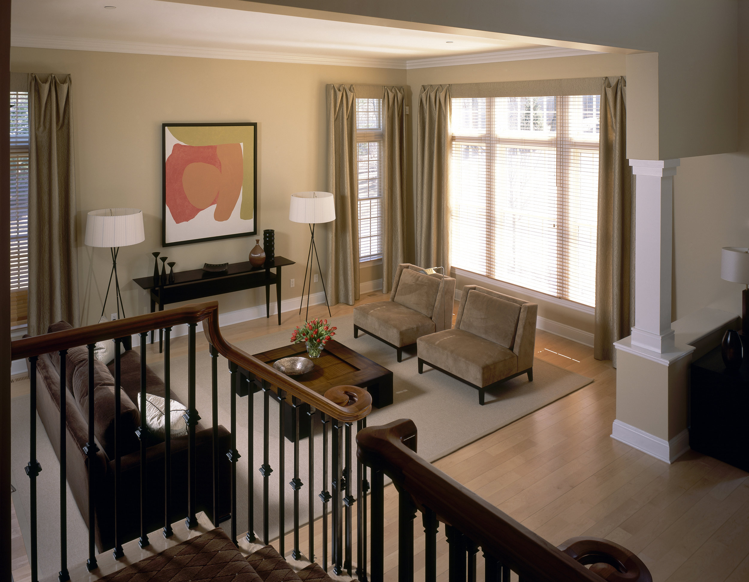 Above view of modern living room