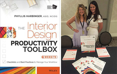 Productivity Toolbox book and Phyllis Harbinger at book signing event