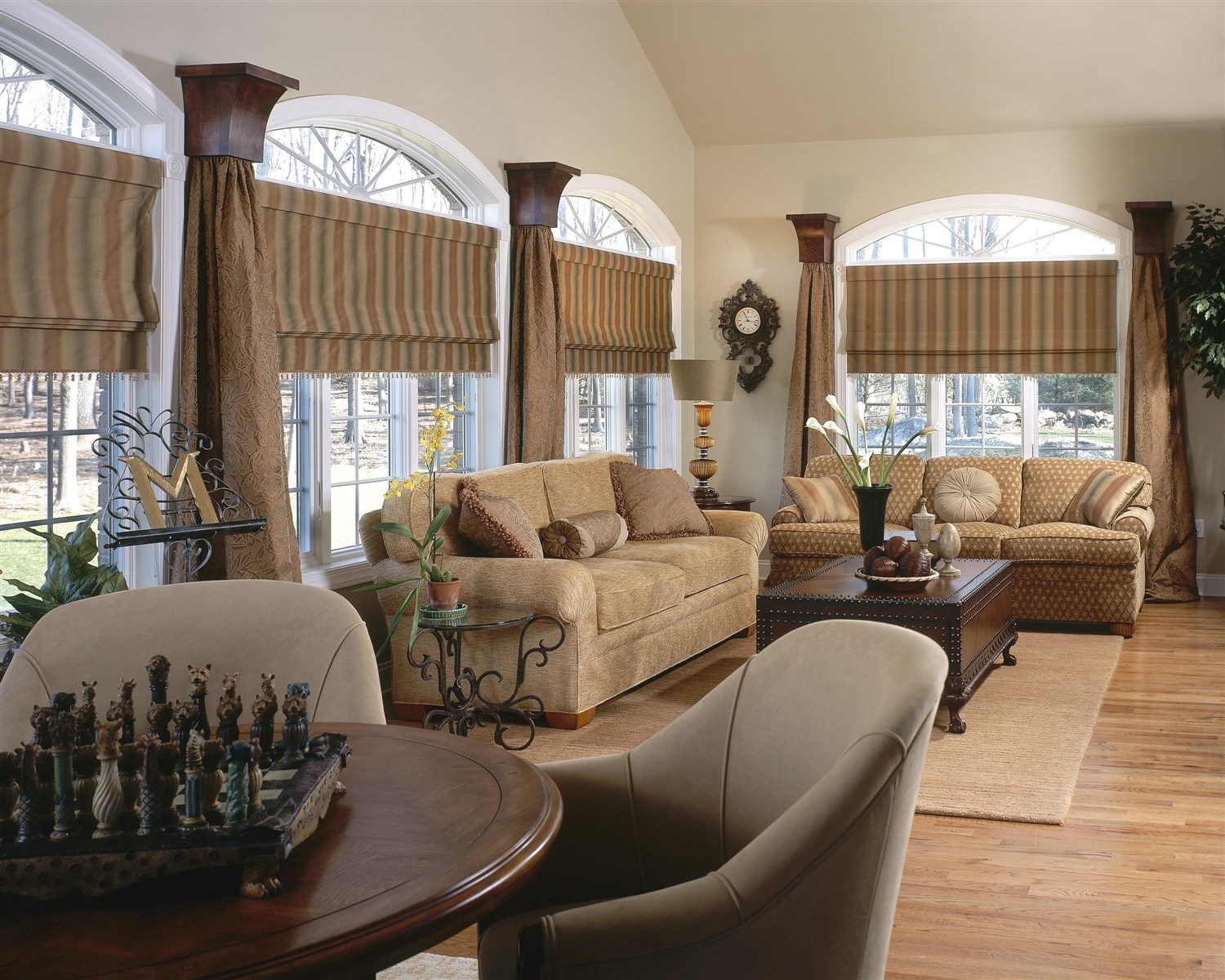 Living room interior design with two big couches