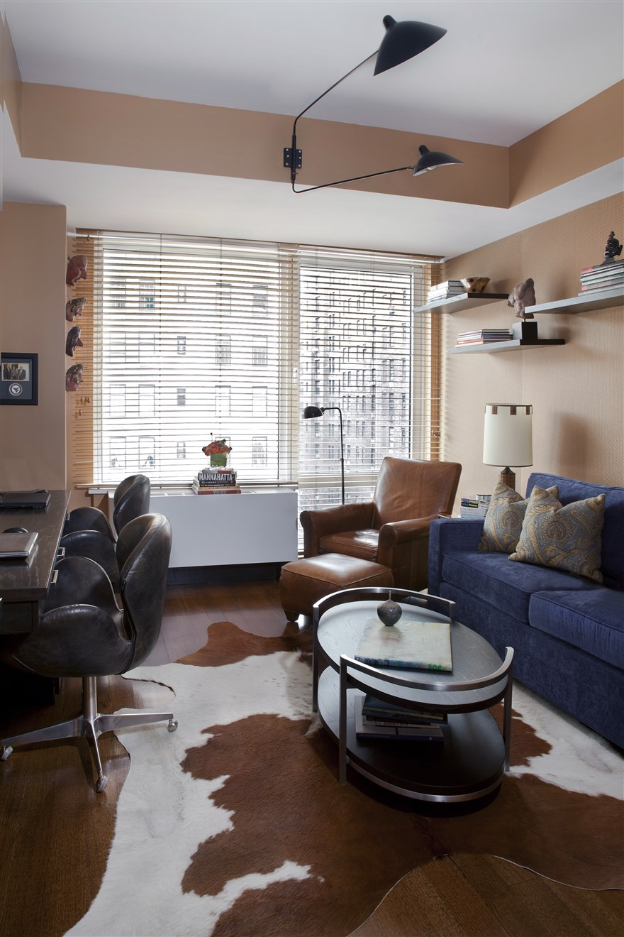 Modern Style Living room with blue sofa set