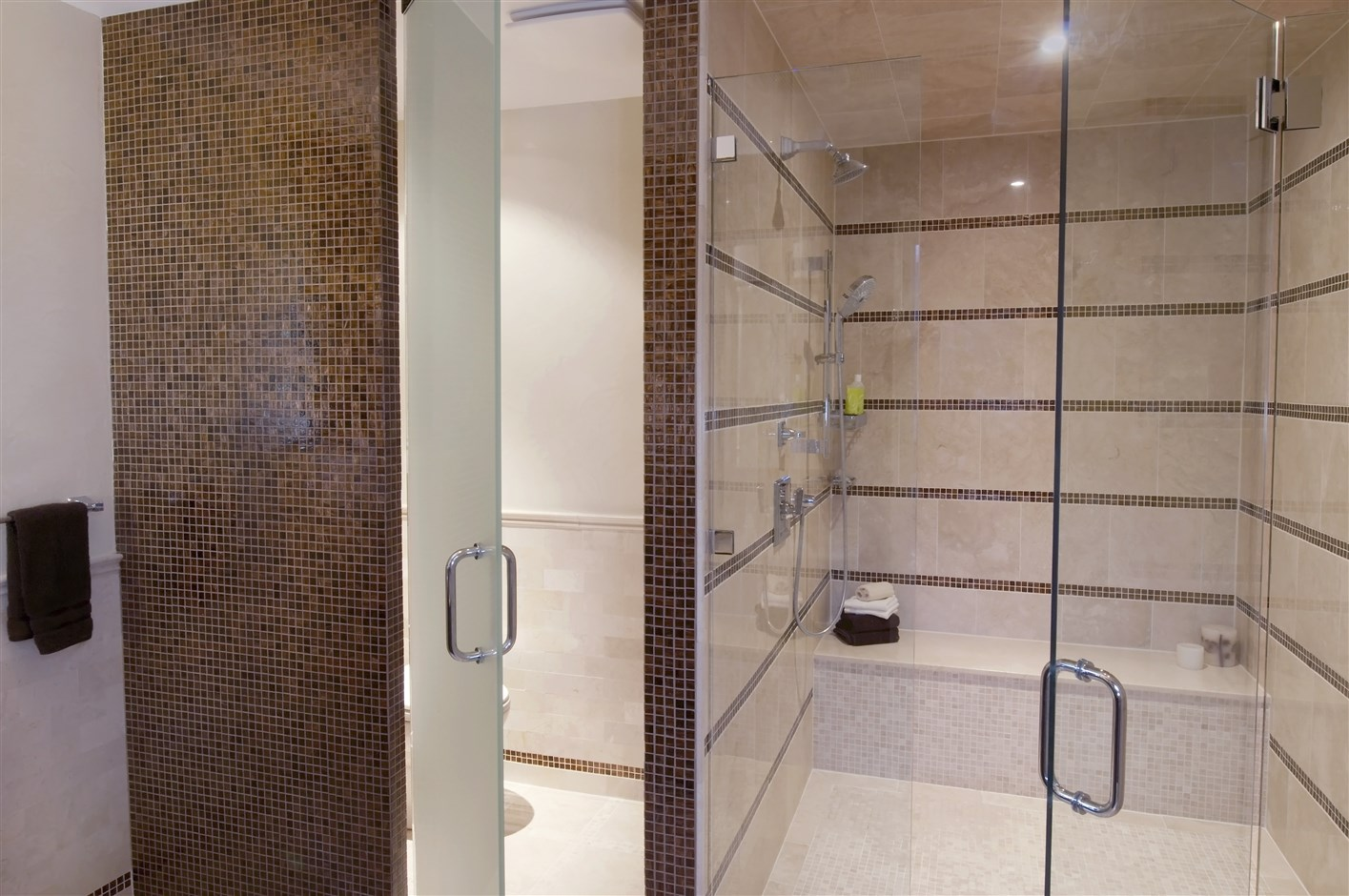 Modern style bathroom with toilet and shower room