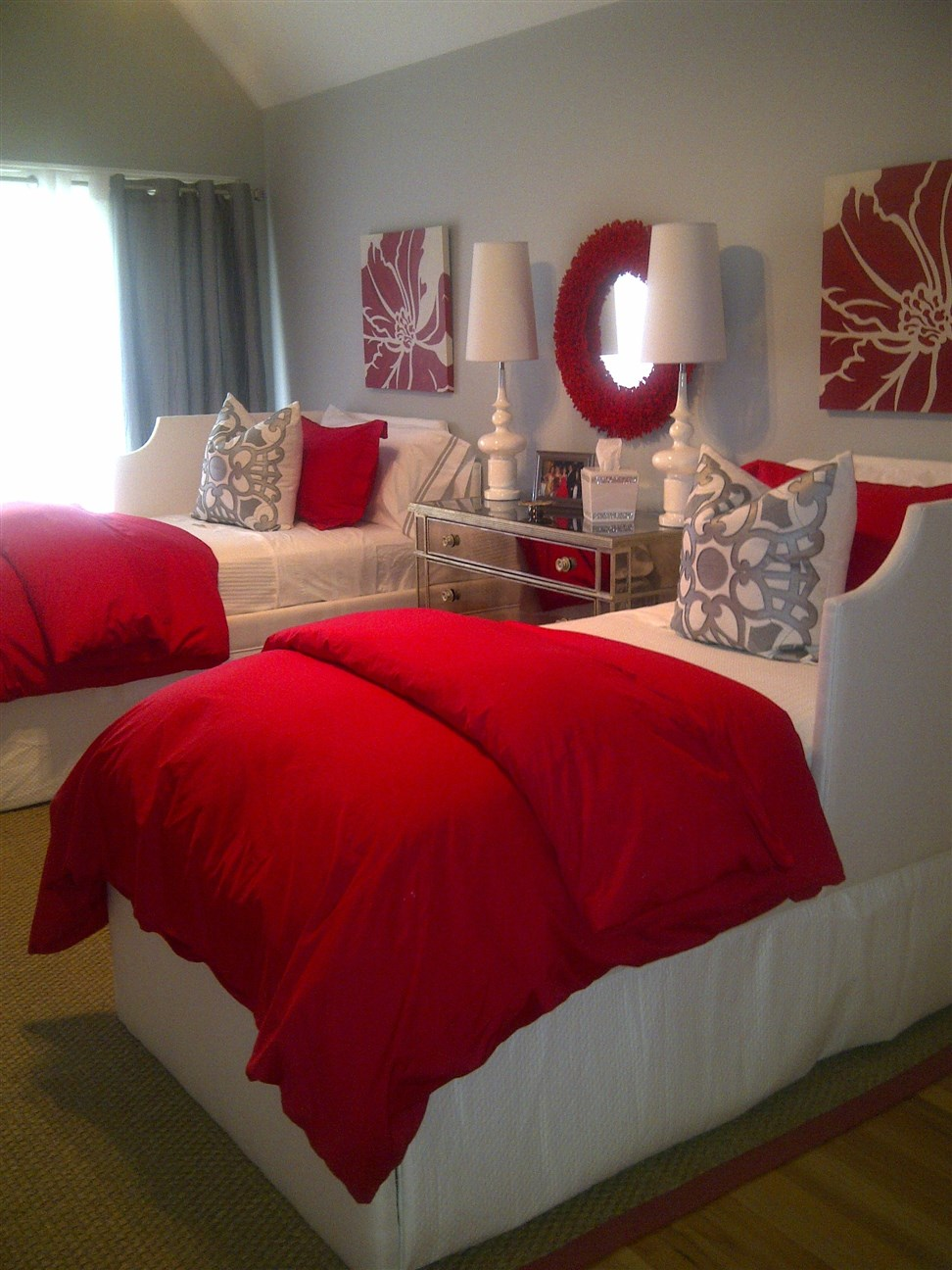 Bedroom with two beds