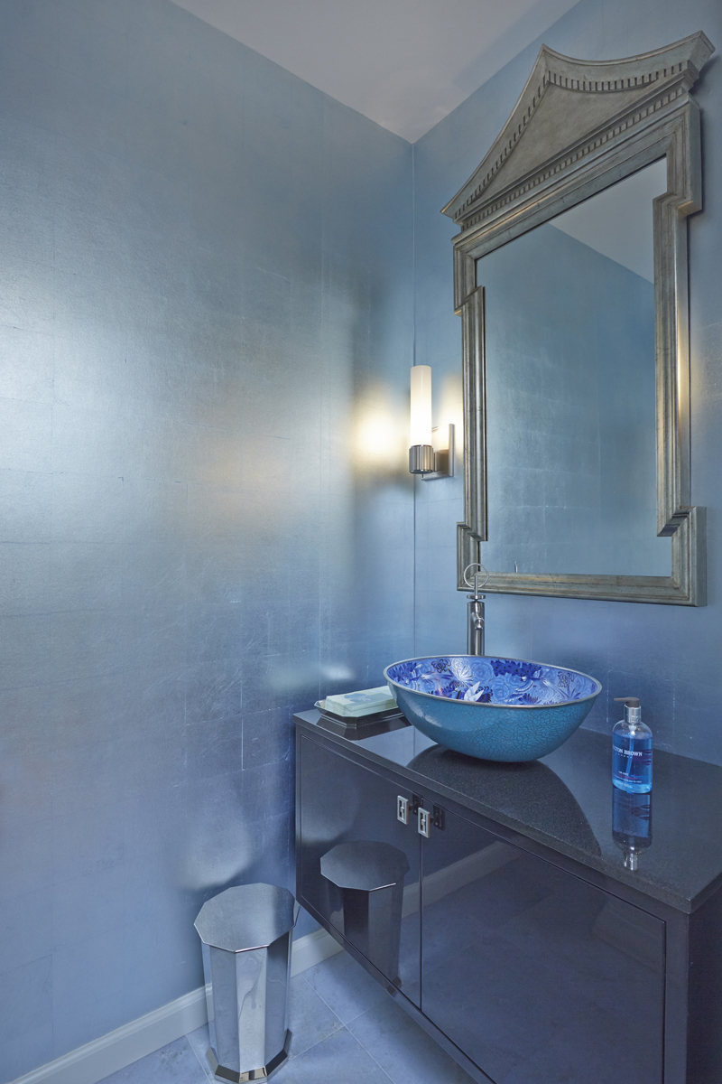Sink and faucet with mirror