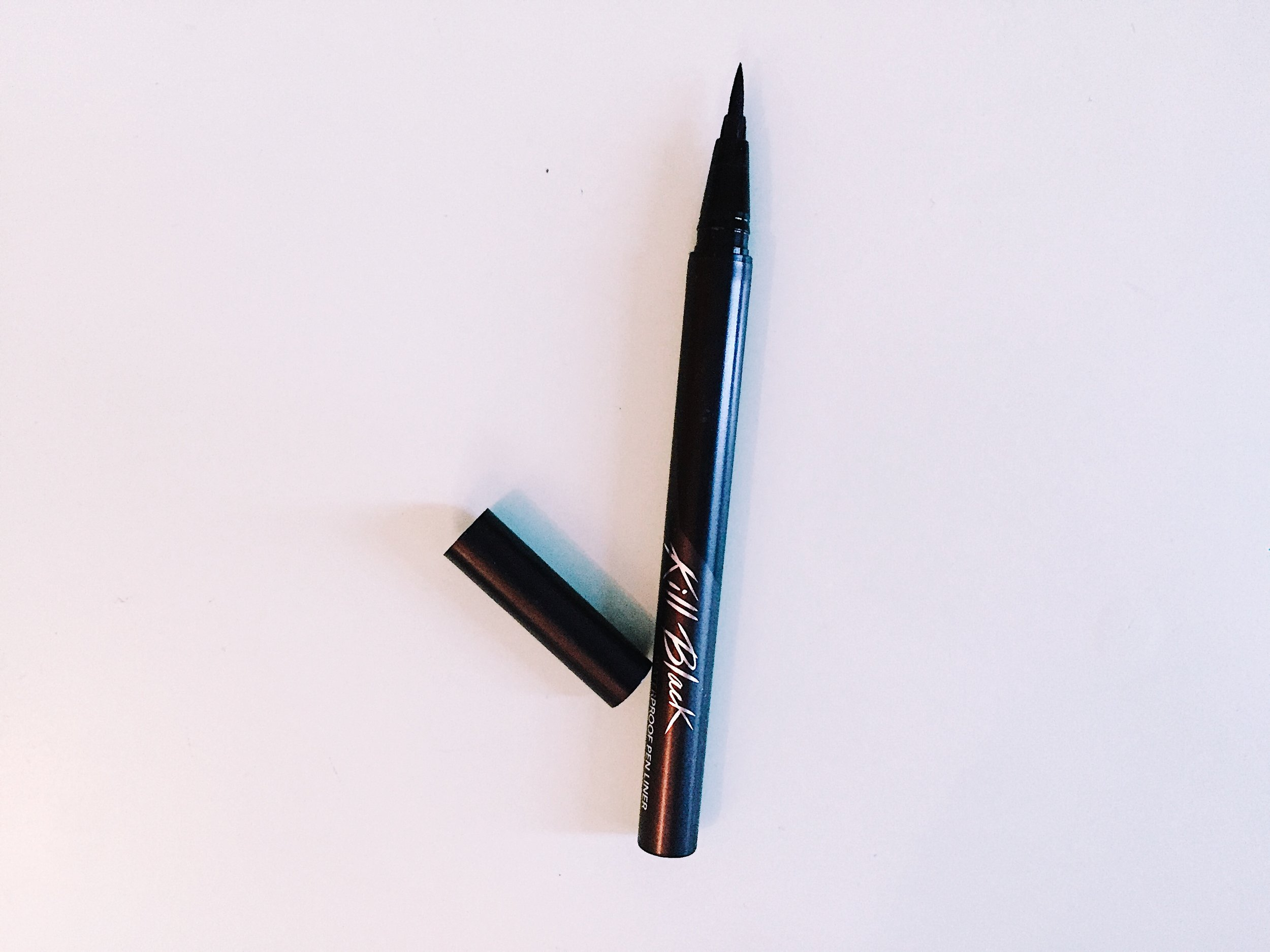 Clio - A super affordable felt tip pen liner from Korean brand Clio. Pros: Under $10. Very dark. Thin tip of pen allows for high precision. Cons: Consistency can be runny when first applied to skin. Difficult to get in store in the US.