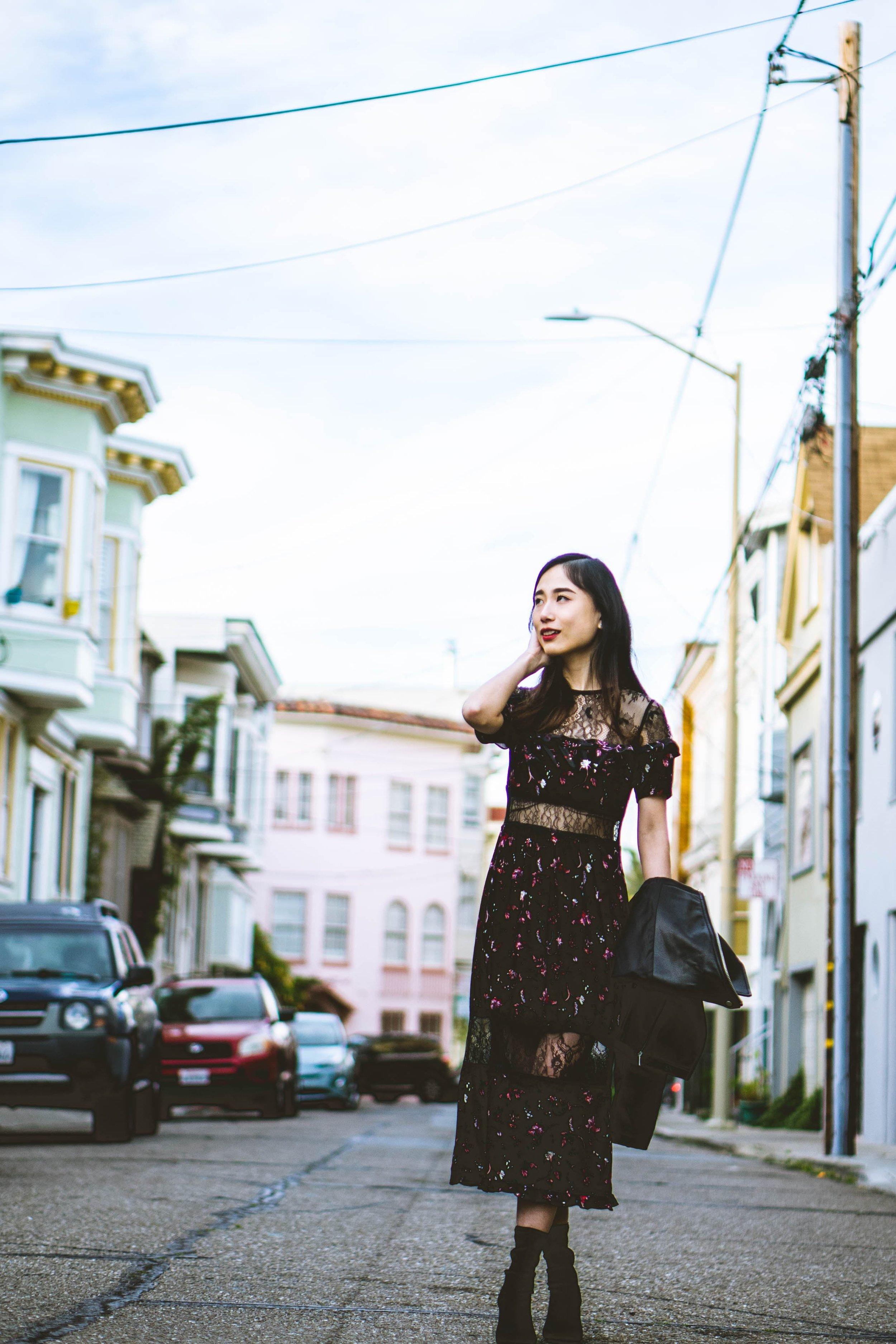 "Cinder Block: ""Urban Ball Gown"" Topshop dress, Asos Jacket"