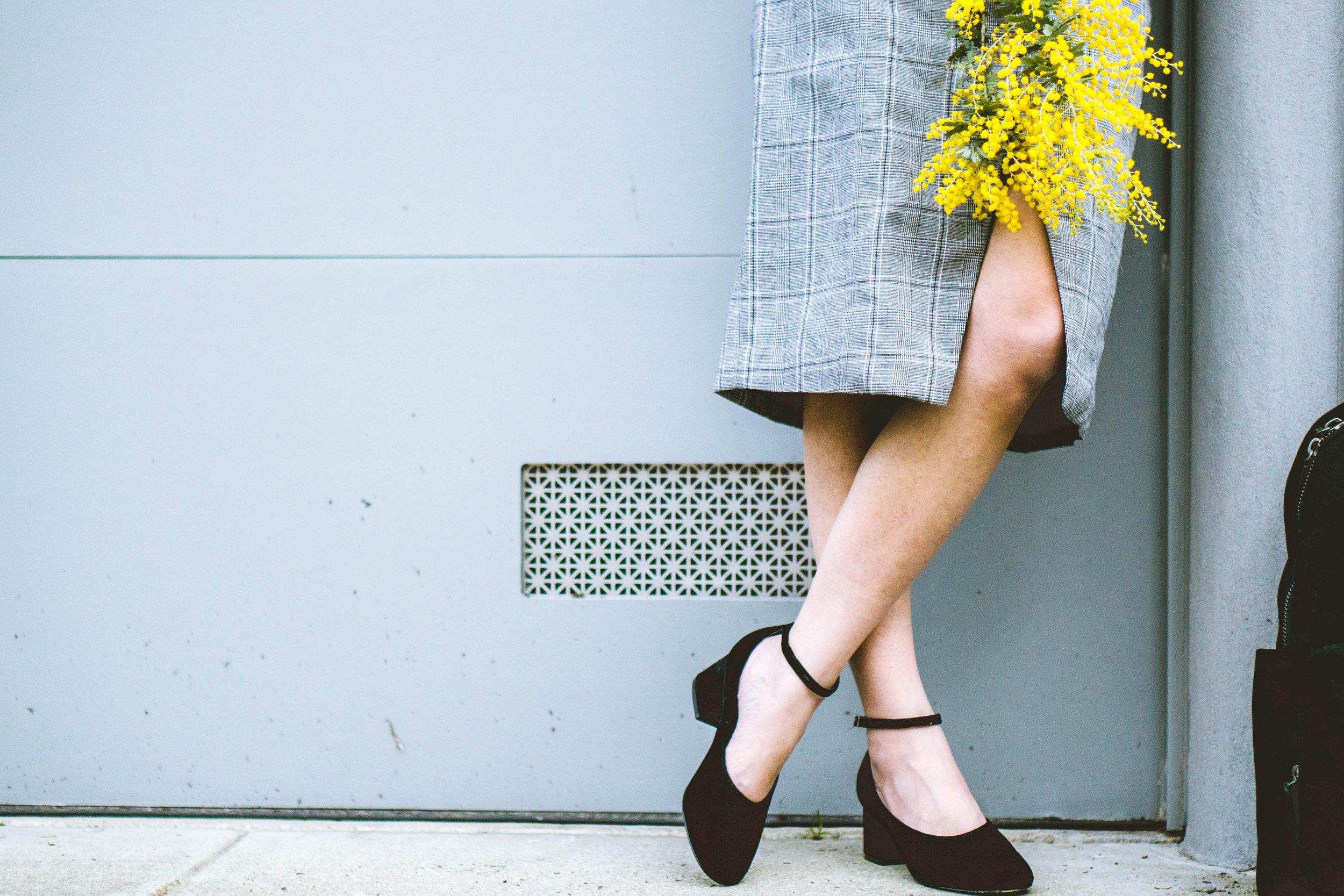 Dress: Eggie, Sheer top: STYLEADDICT, Mary Jane heels: Sigerson Morrison, Backpack: Everlane