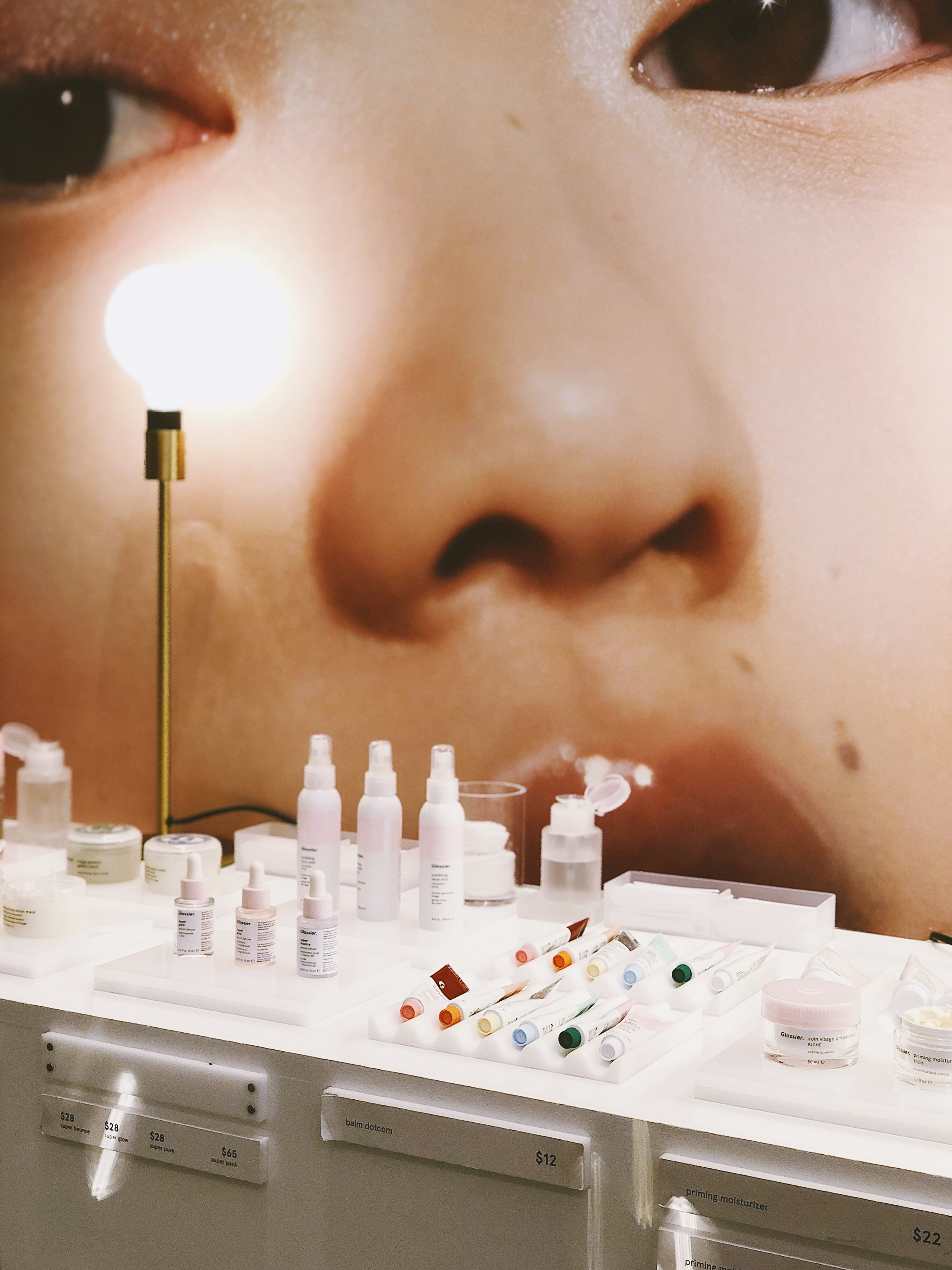 Glossier Pop-up shop in San Francisco