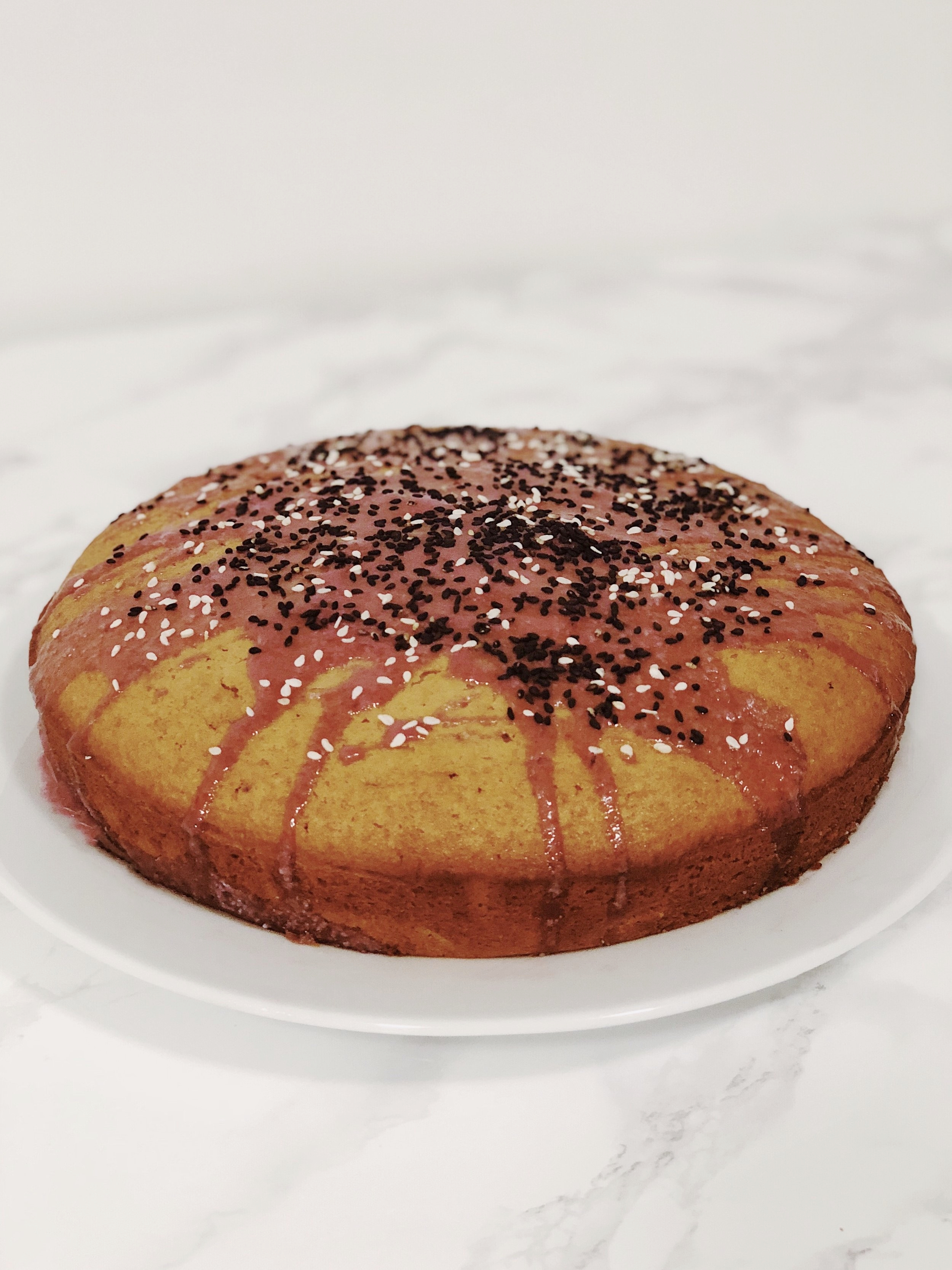 Blood Orange Black Sesame Cake