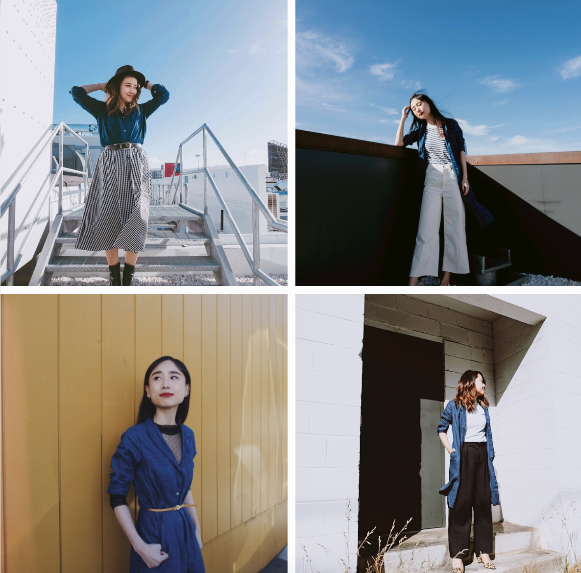 4 ways to wear the everlane shirt dress - Style collab with Yuka Ohishi
