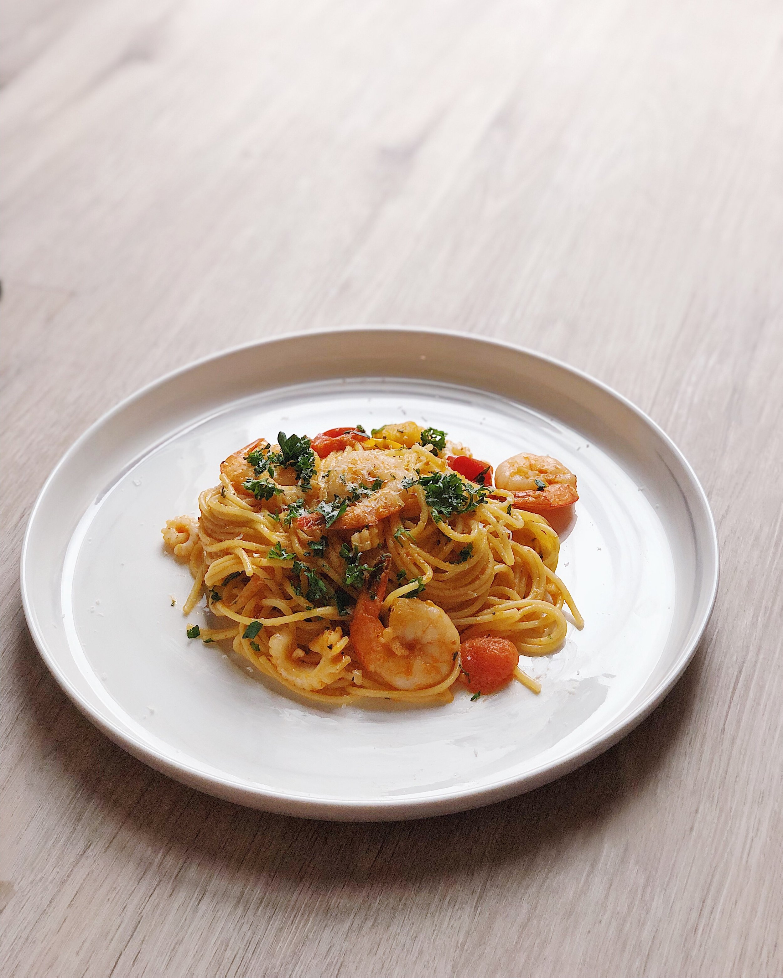Seafood Pasta with Uni Butter
