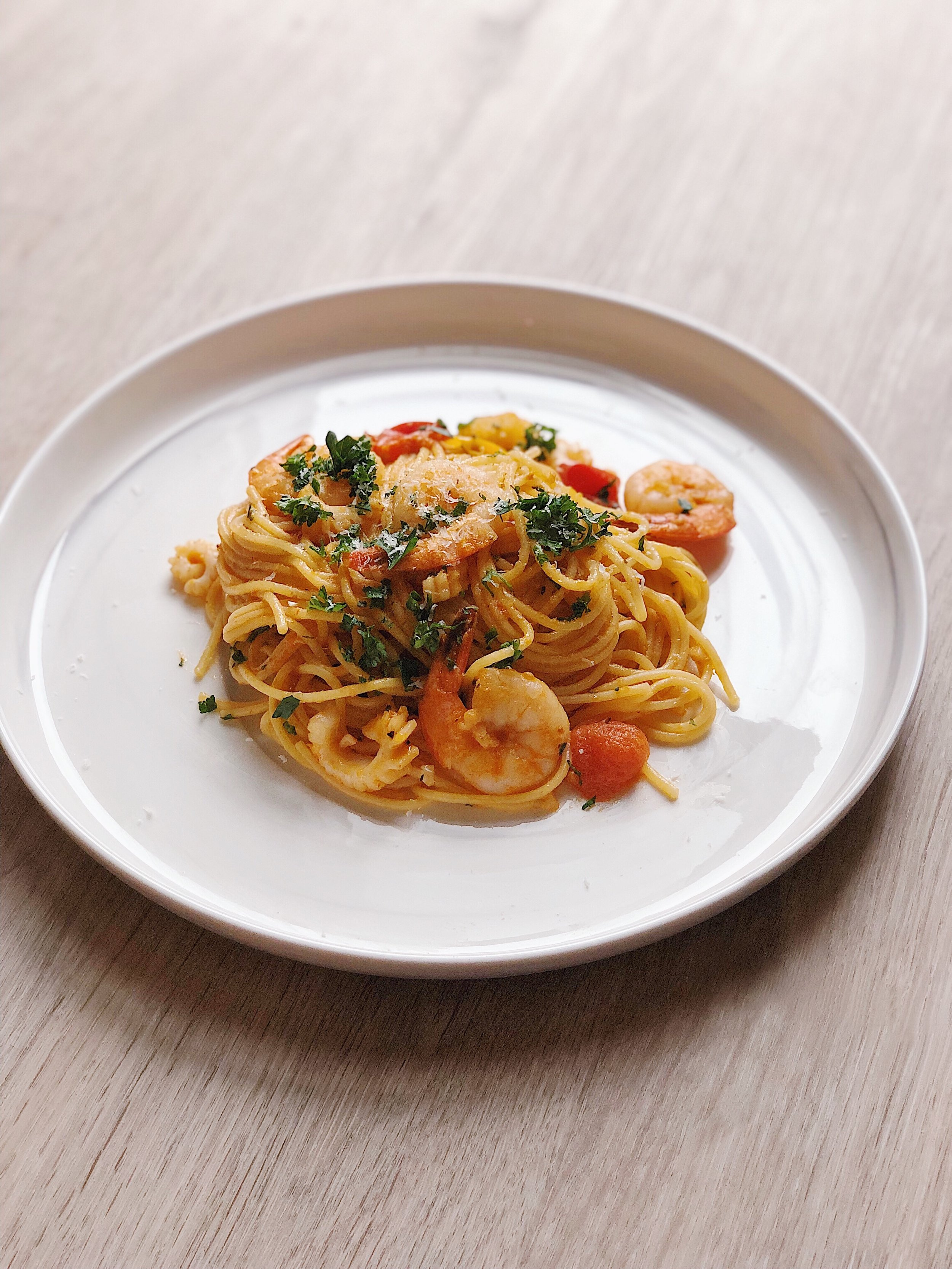 Seafood Pasta with Uni (sea urchin) Butter