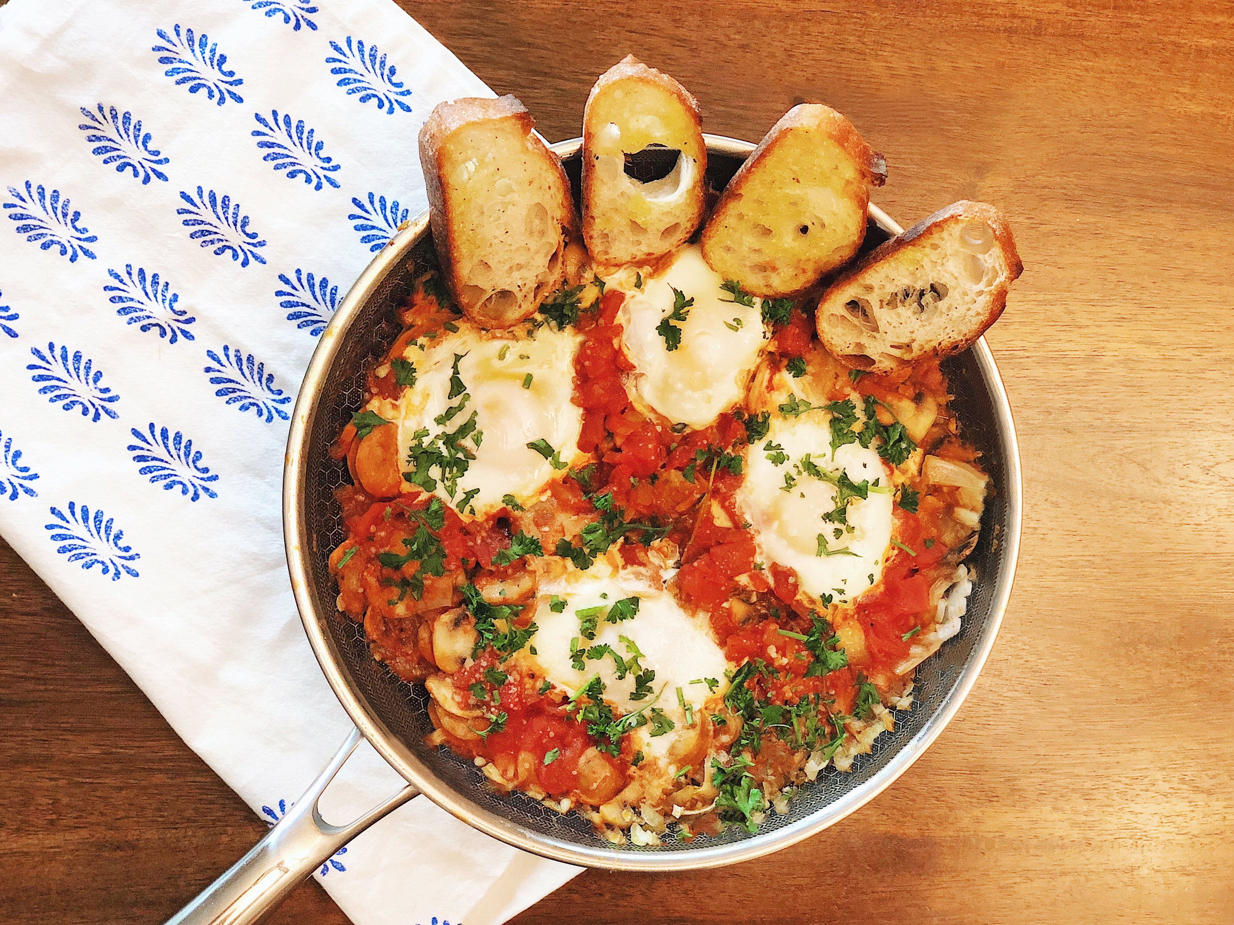 Shakshuka with Sausage and Mushrooms