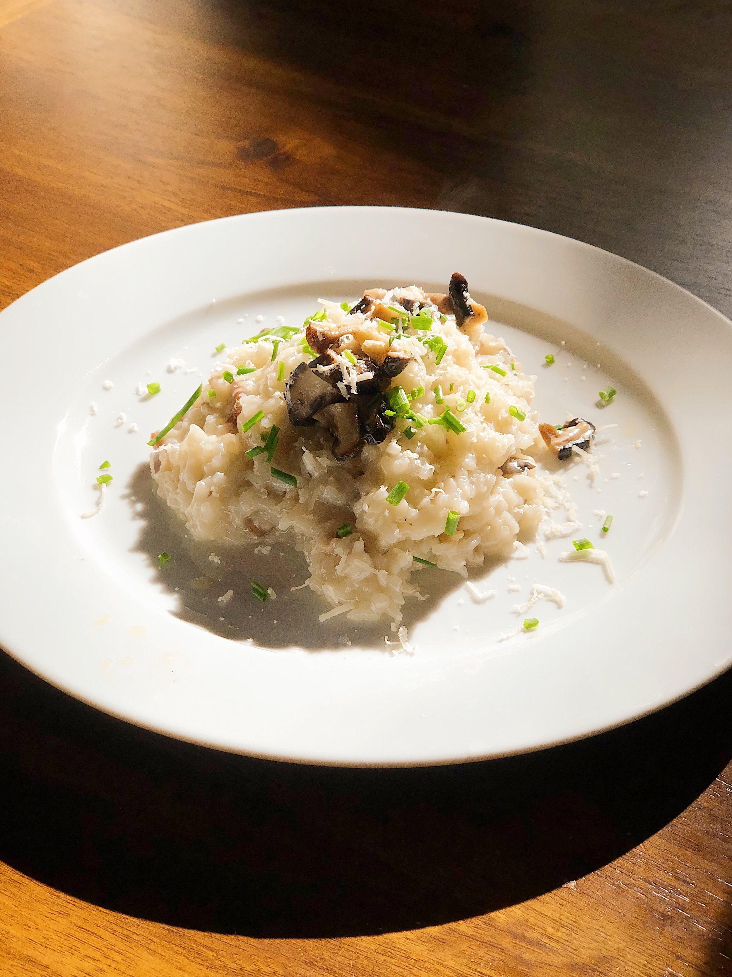 Parmesan & Butter Risotto with Shiitake Mushrooms