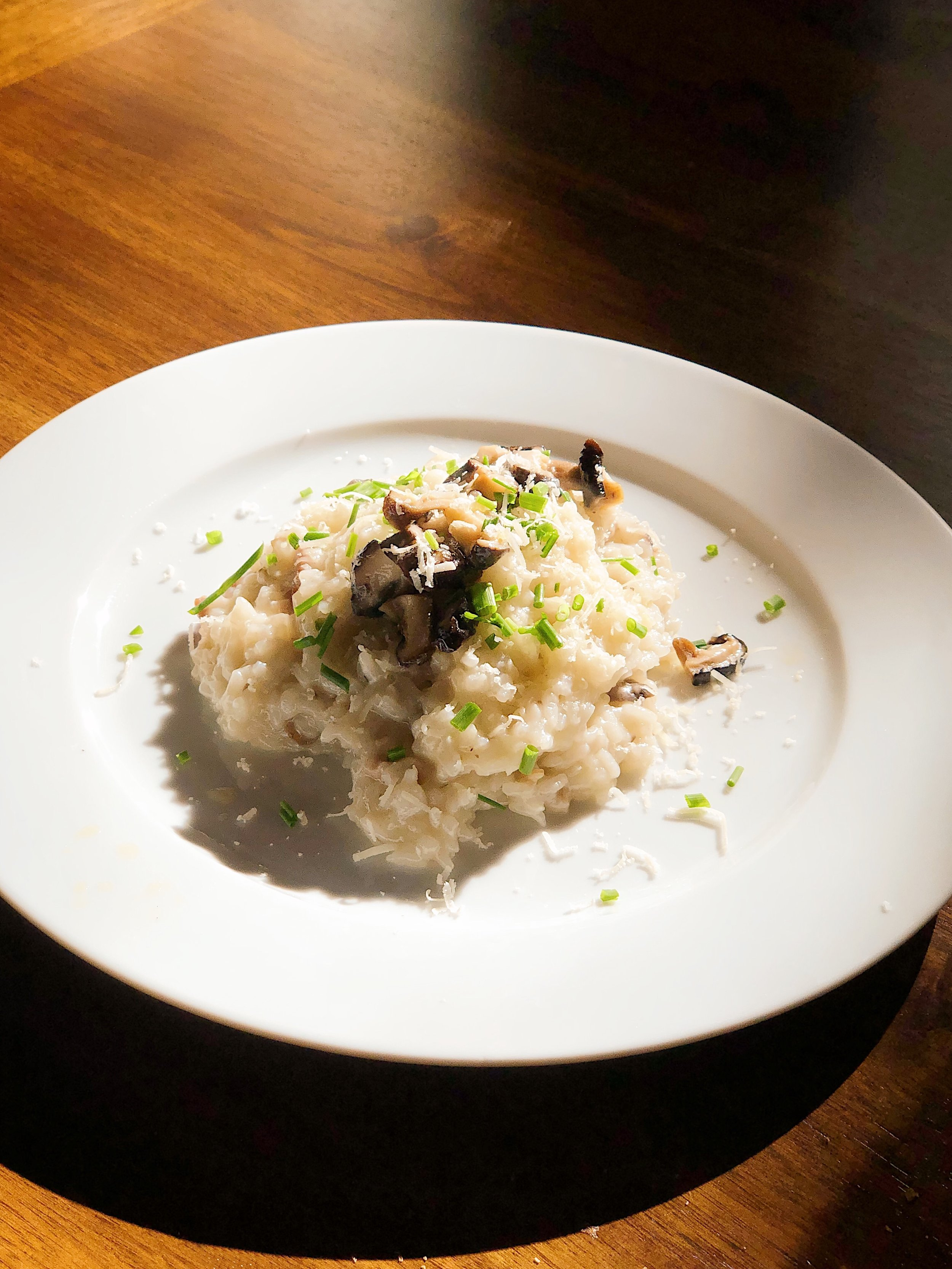 Risotto with Shiitake Mushrooms