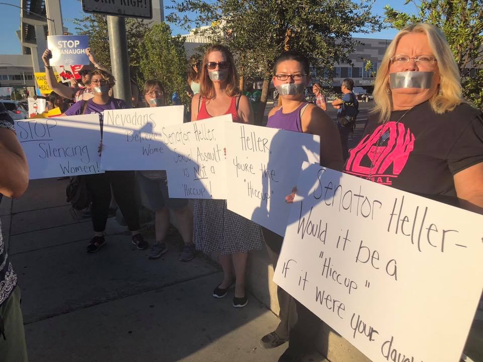 Nevada NOW protests trump