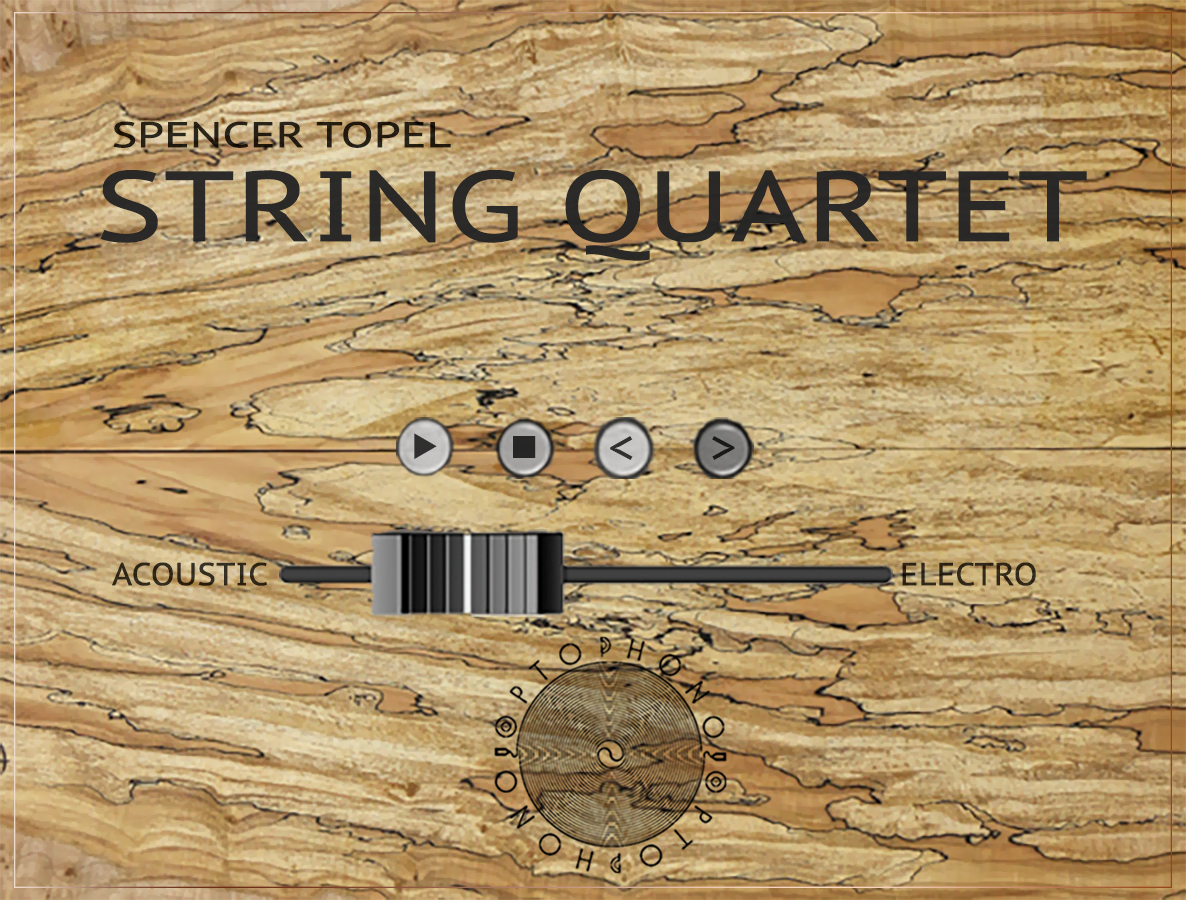 Mockup for  STRING QUARTET  by Spencer Topel. Image by Spencer Topel © 2018