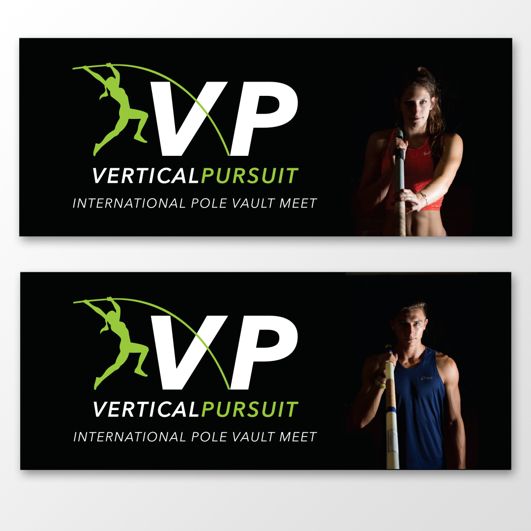 Banner images (the photo of the athlete is life size). Photographs are mine.