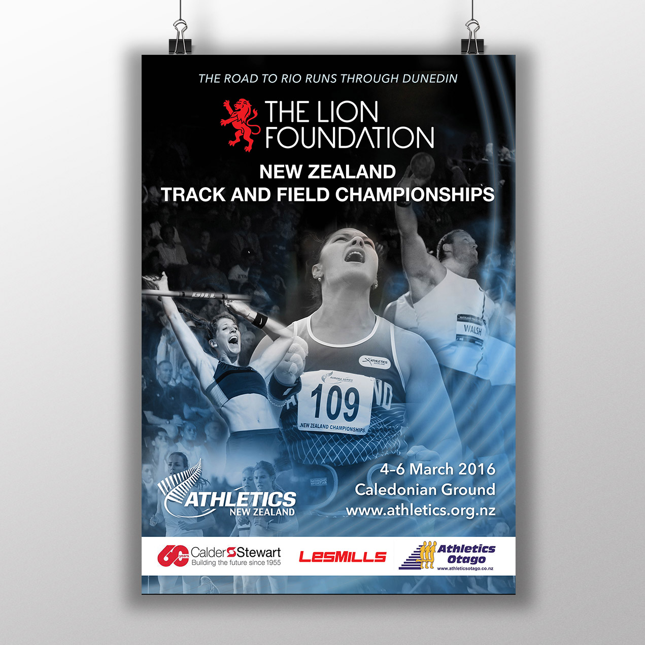 Athletics New Zealand: National Track and Field Championships - Promotional material for the pinnacle event on the domestic track and field calendar.