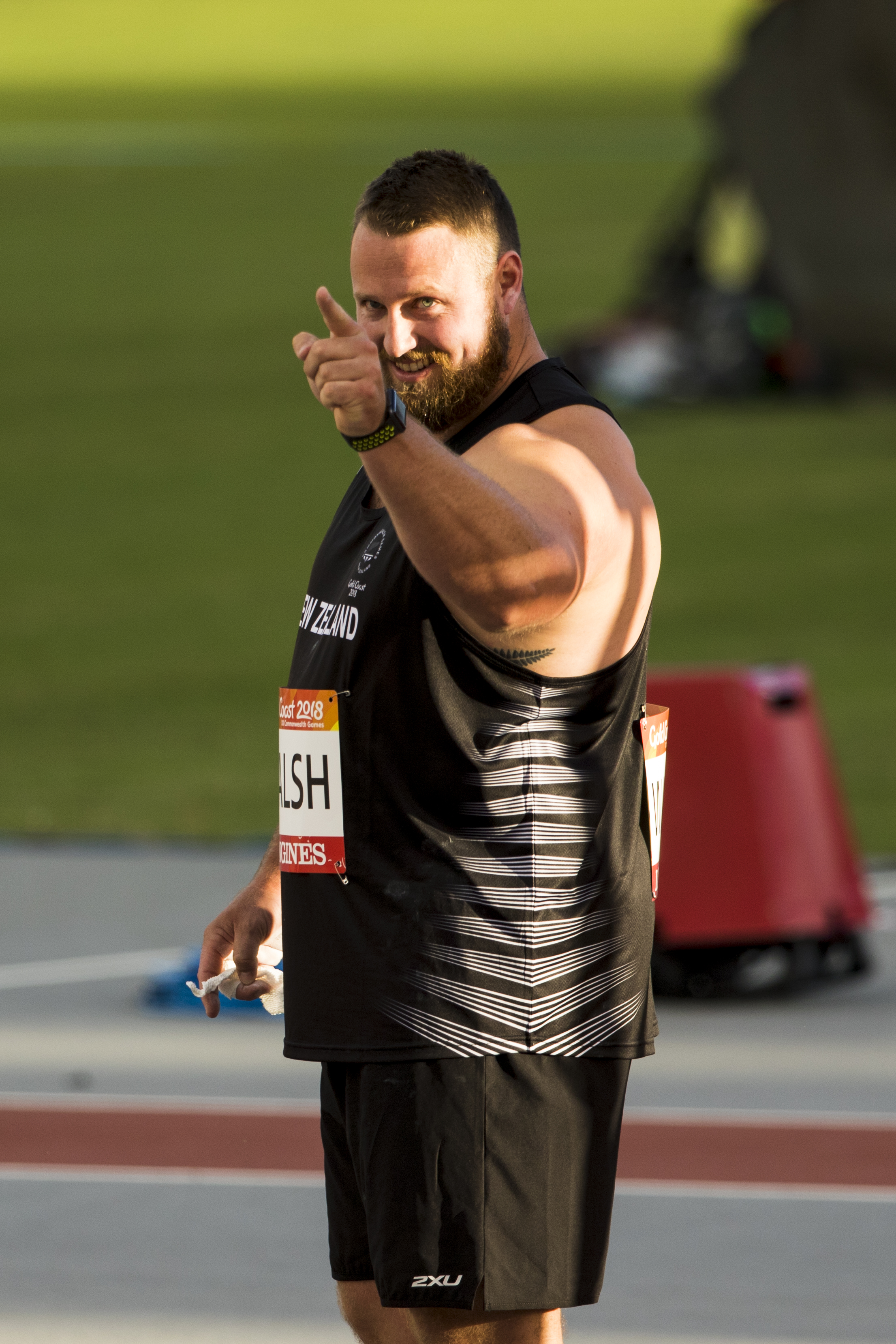 Tom Walsh breaks the Commonwealth Games Record with a new personal best and Oceania Record in the Shot Put Qualifying at the 2018 Commonwealth Games. Gold Coast, Australia. Copyright photo: Alisha Lovrich / www.photosport.nz
