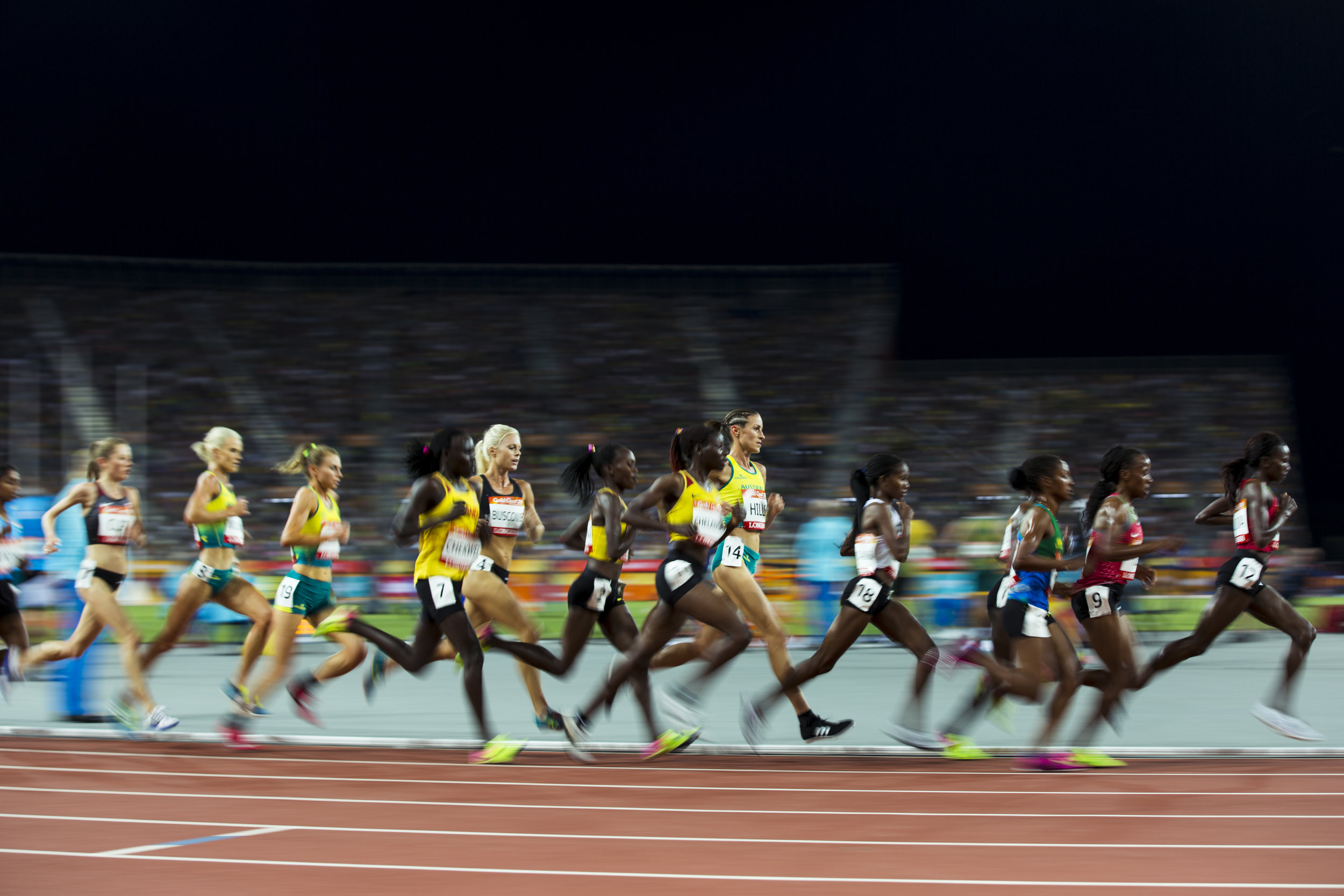 Camille Buscomb in the 10,000m at the 2018 Commonwealth Games. Gold Coast, Australia. Copyright photo: Alisha Lovrich / www.photosport.nz
