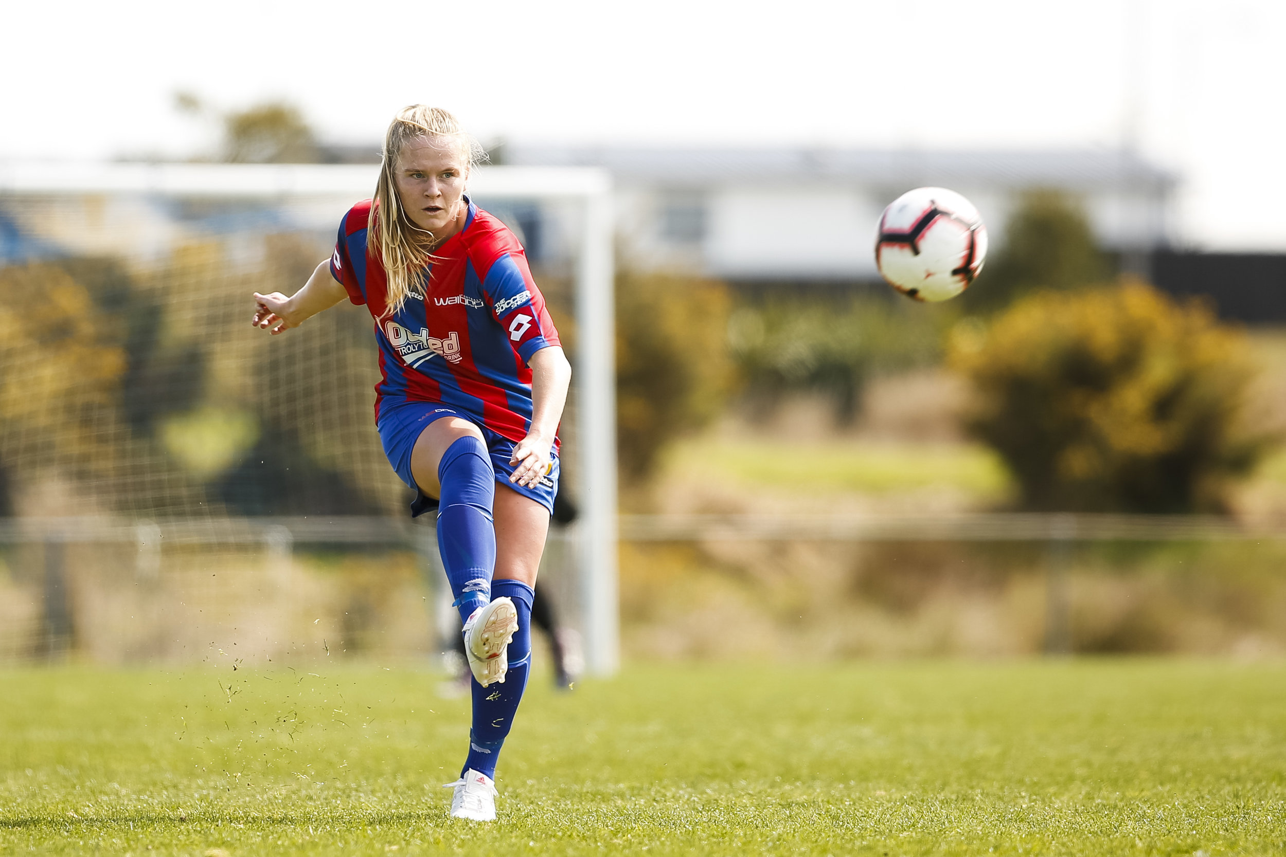Kate Williams of WaiBOP. Southern defeat Waikato Bay of Plenty 6-3 in the National Women's Football League Match Day 4. McLennan Park, Papakura. October 7, 2018. Copyright photo: Alisha Lovrich / www.photosport.nz