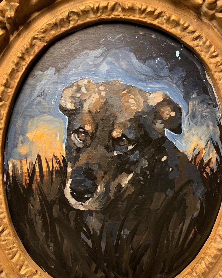 """Portrait of a Rez Dog """"Fergie"""" , 2019"""