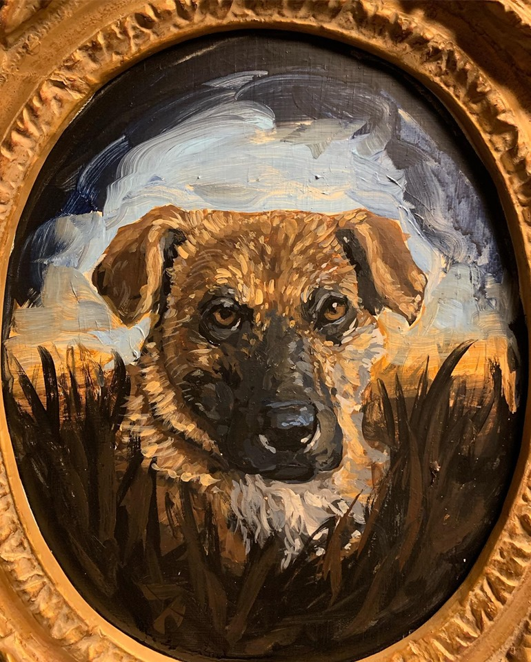 "Portrait of a Rez Dog ""Billy"" , 2019"
