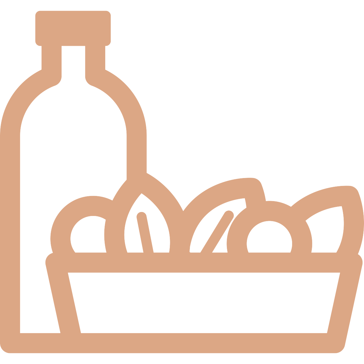 Food and drink essentials - Twice weekly delivery of tea, coffee, milk, bread, pasta and more