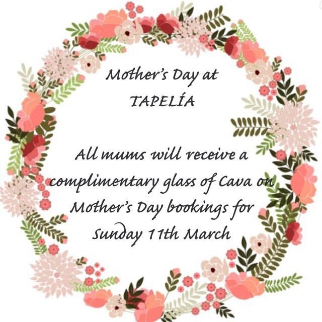 #Tapelia #Northfields #Spanish #Restaurant #Tapas  #Bar #Mothersday #BookNow