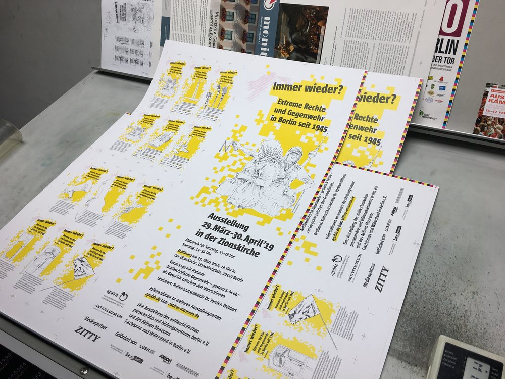 Andruck Flyer und Poster Ausstellung Immer Wieder