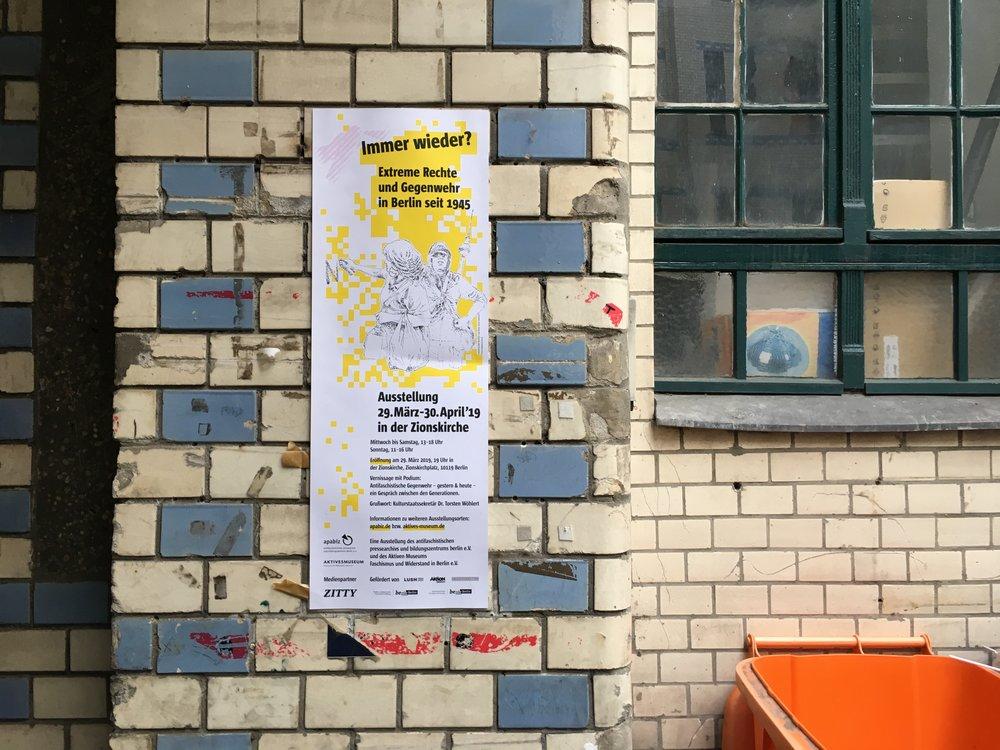 Poster Ausstellung Immer Wieder