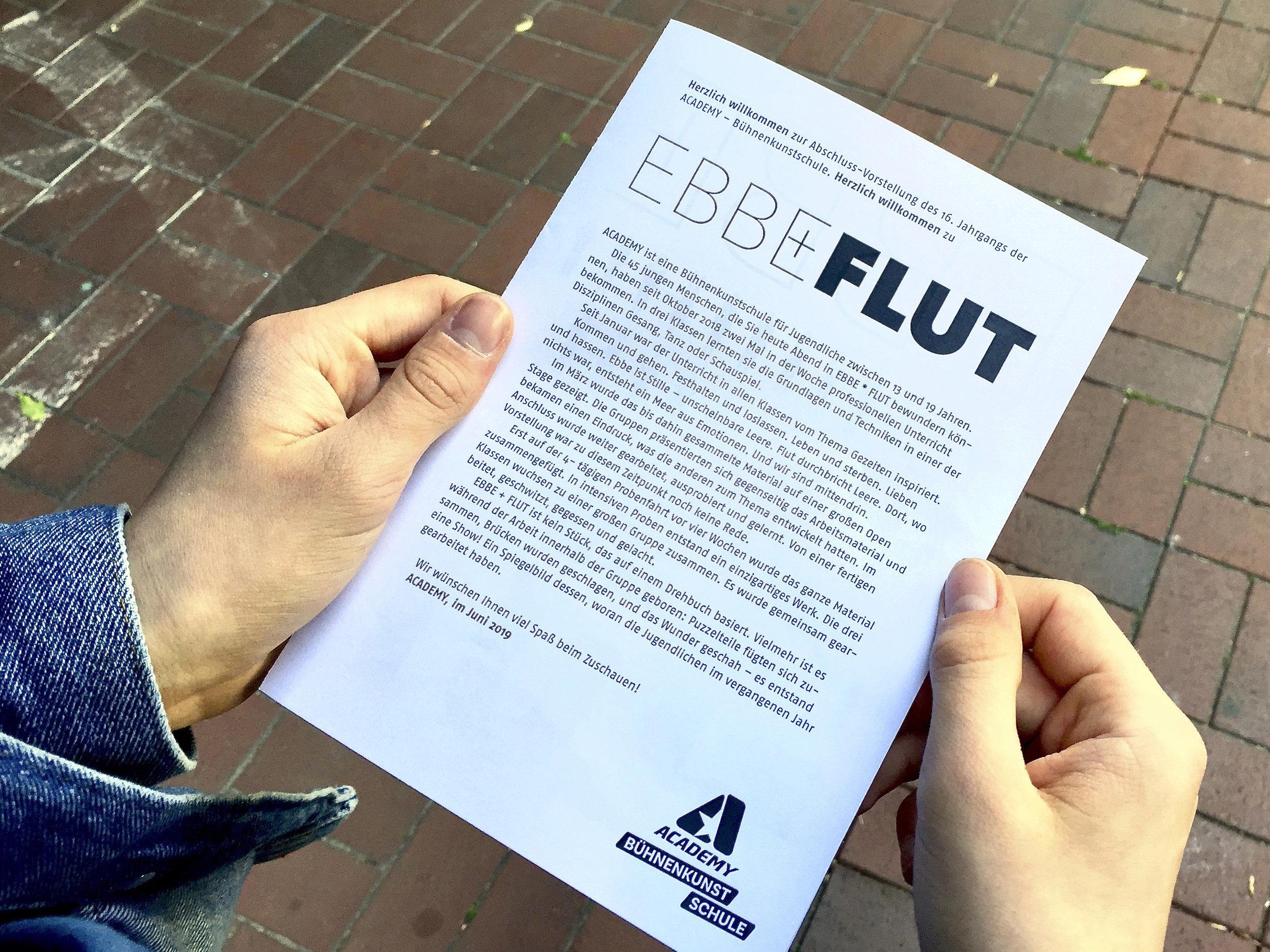 Programmheft EBBE + FLUT