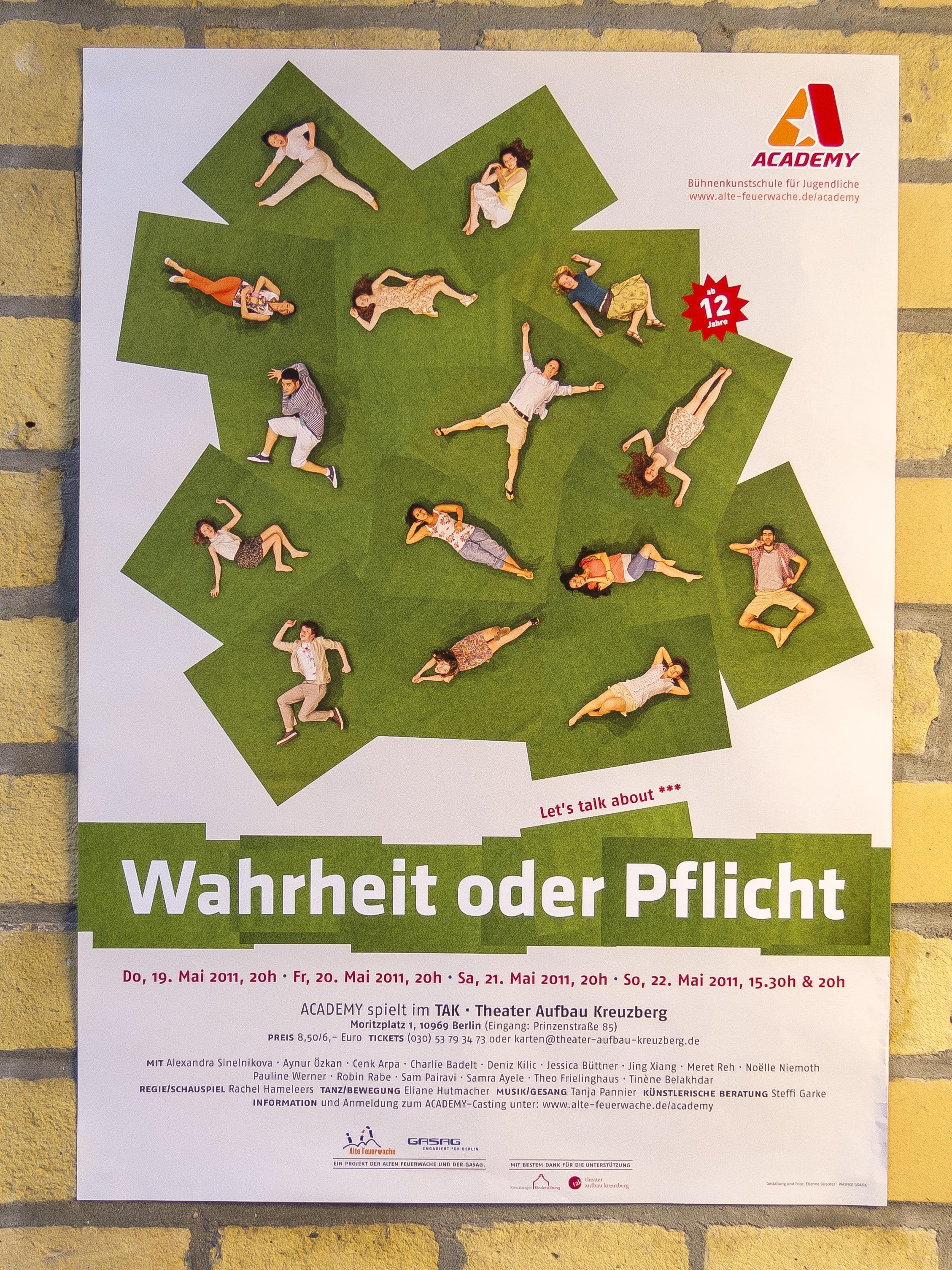 Plakat WAHRHEIT ODER PFLICHT