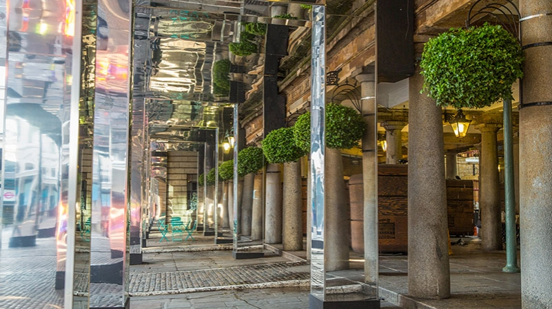 Reflect Covent Garden - reflective surfaces in London are dazzling us