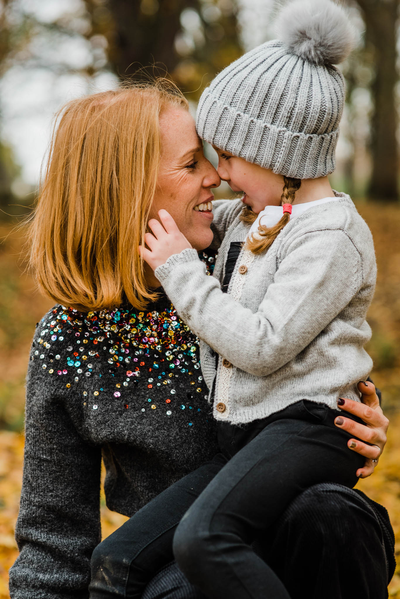 Mother smiling with daugher Cheltenham outdoor Family Photoshoot.jpg