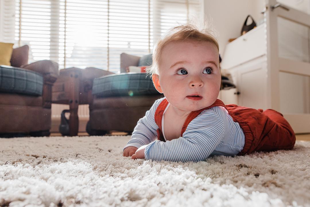 Baby tummy time in home photoshoot - Cheltenham family photographer.jpg