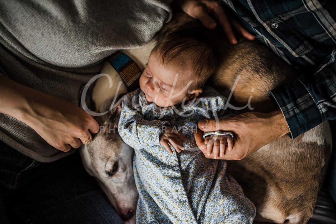 Newborn girl photoshoot at home