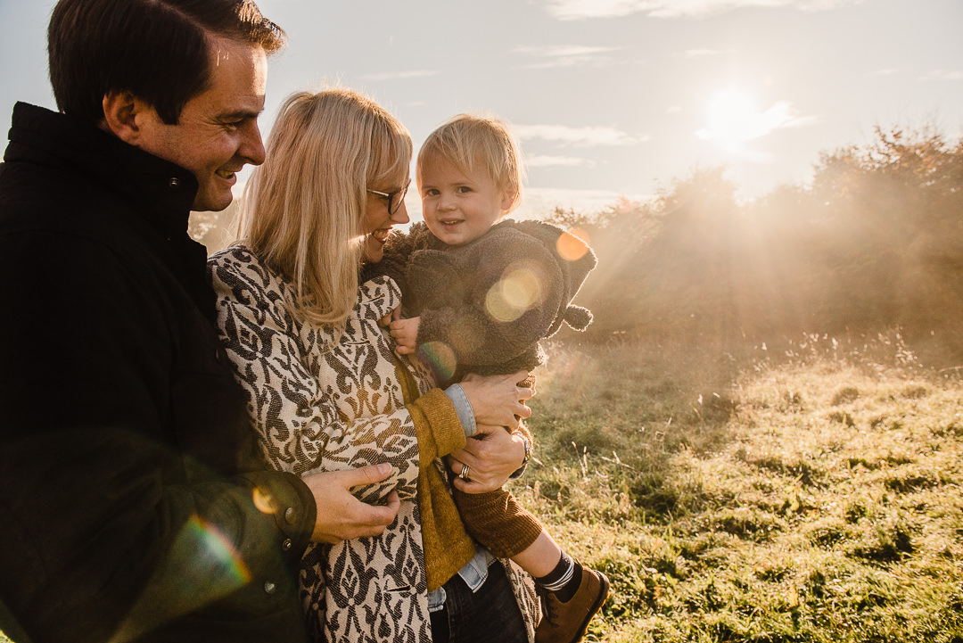 Family photoshoot with toddler, Cotswolds