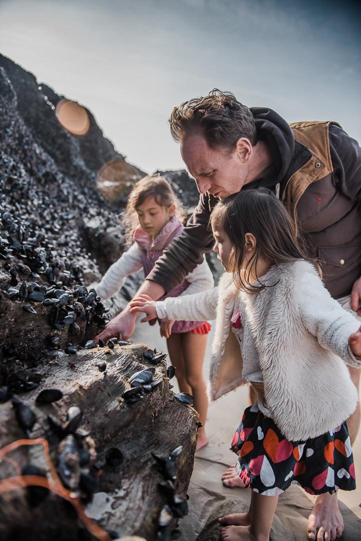 Studying mussels at Newquay beach Chui King Li Photography.jpg