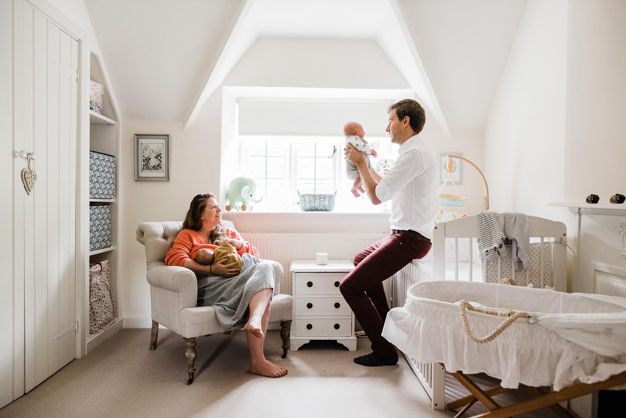 Family twin newborn in home photo Cheltenham.jpg