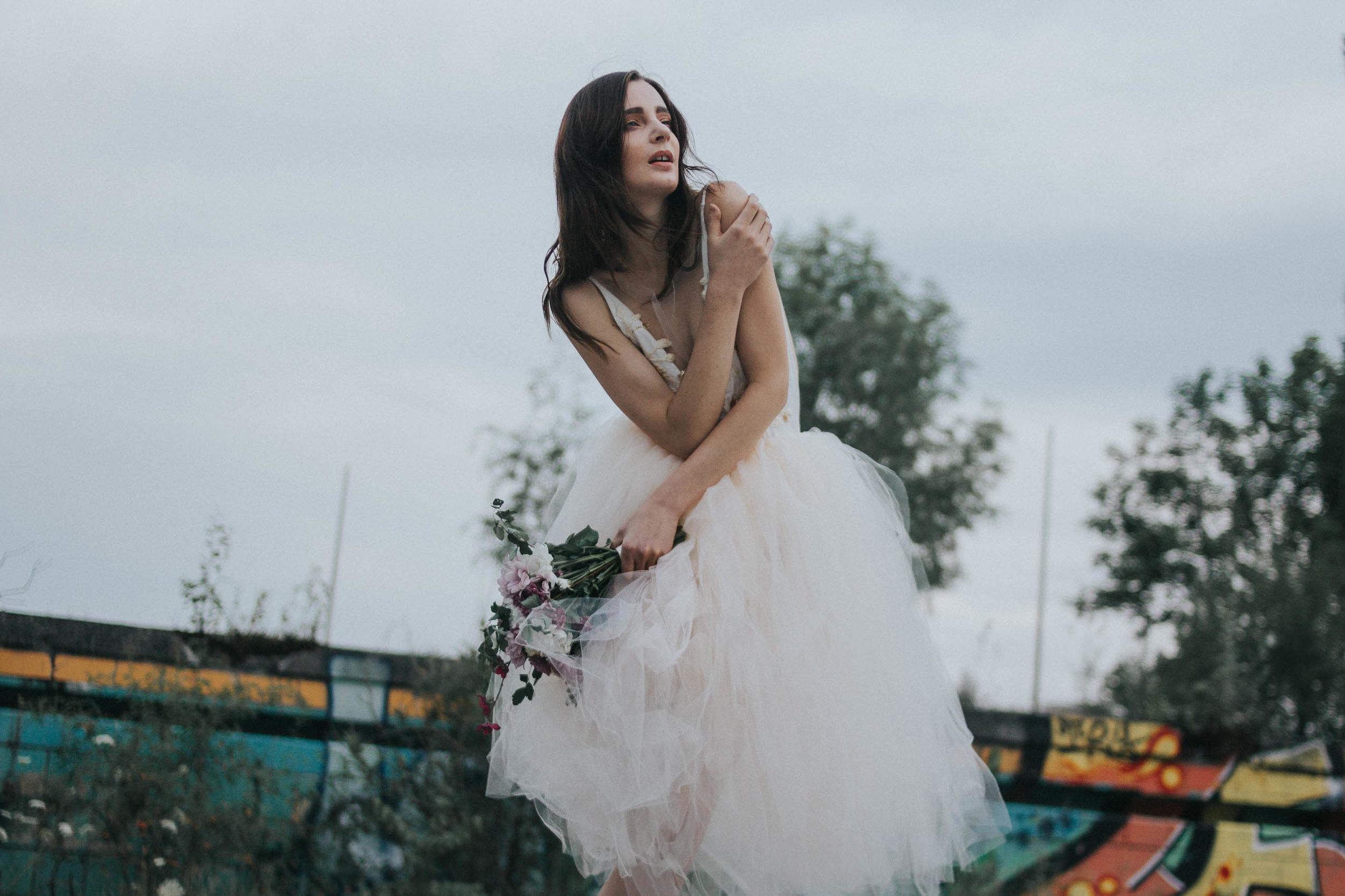 Model: Teresa Peitz  @teresa_peitz   Dress: Clara Eckoldt  @claraeckoldt   Stylist:  @missheatherharlowe   Flower Stylist:  @stemsfromher