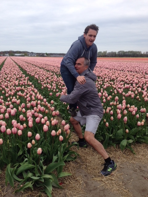 Little bit of horseplay from one of our guests on one of last year's tulip tours.