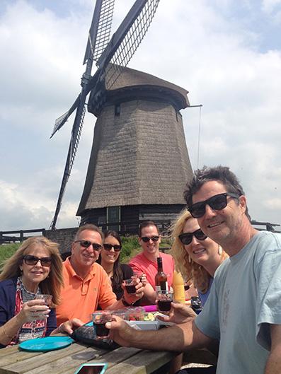 Enjoying a picnic at a 380-year old windmill