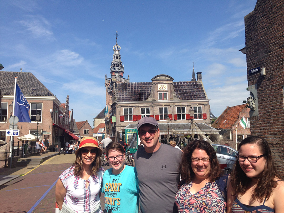 A lovely Dutch town (not too far from Amsterdam, and we travel back roads to get there)